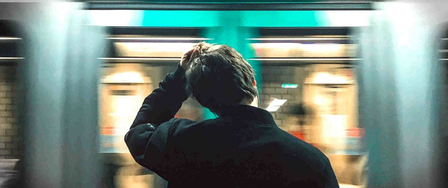 Man mist trein
