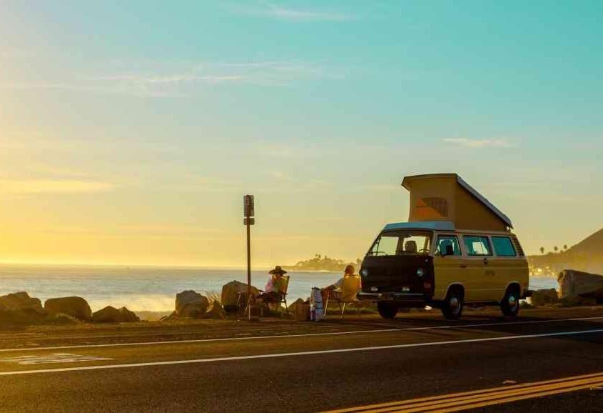 Foto roadtrip met camper